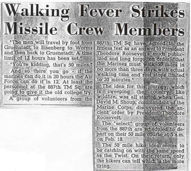 Walking Fever Strikes Missile Crew Members