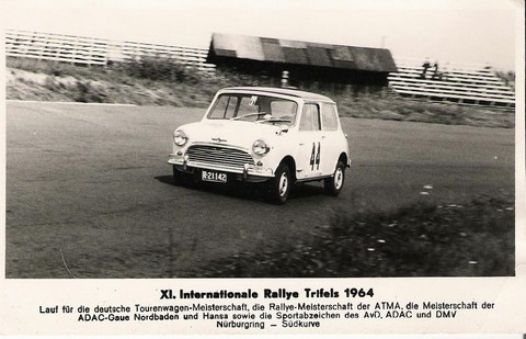 Mini Cooper at Nurburgring Rallye Trifels (photo courtesy of Lee Kyser)