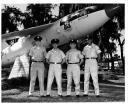 Orlando Crew Graduation - James (Jim) Plowden, Capt. William (Bill) Hughes, Sgt. Raymond (Ray) Lischka and Robert (Bob) Simms (photo courtesy of Jim Plowden)