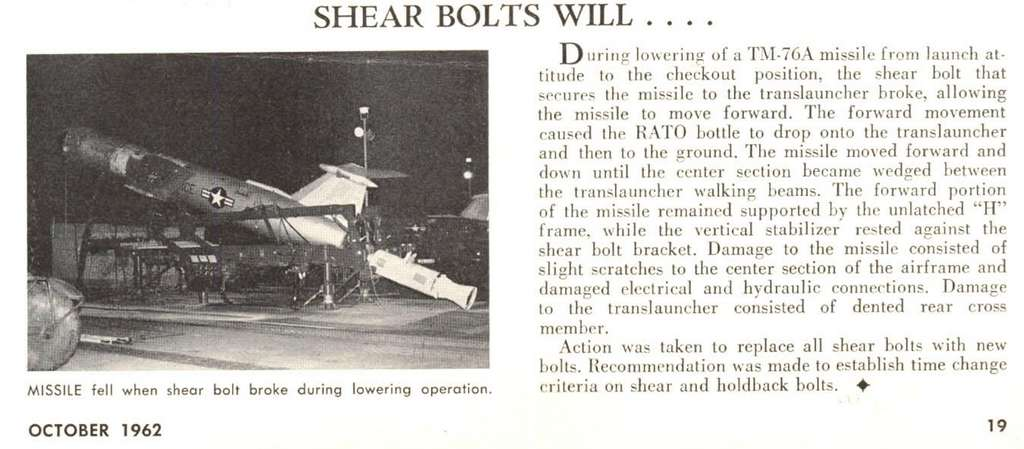 Shear Bolts Will….