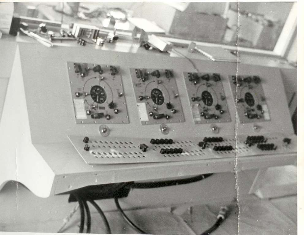 Instructor panel.  Used launch control boxes from the Matador.  Instructors could inject errors during the training.
