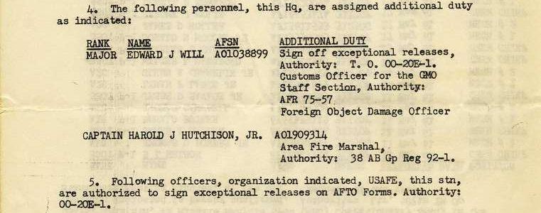 Special Order M-38 (587th TMG / HQ)