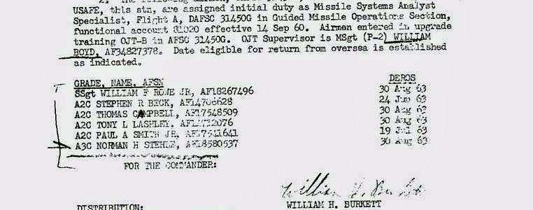Special Order F-107 (587th TMG / HQ)