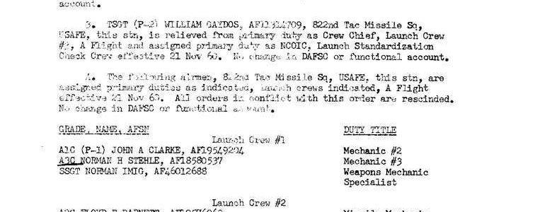 Special Order F-134 (587th TMG / HQ)