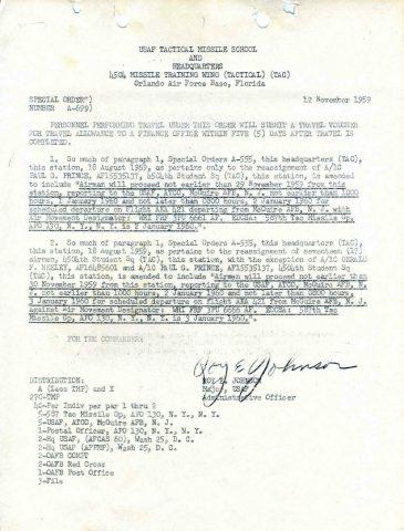 Special Order A-699 (Courtesy of Gene Bielinski)