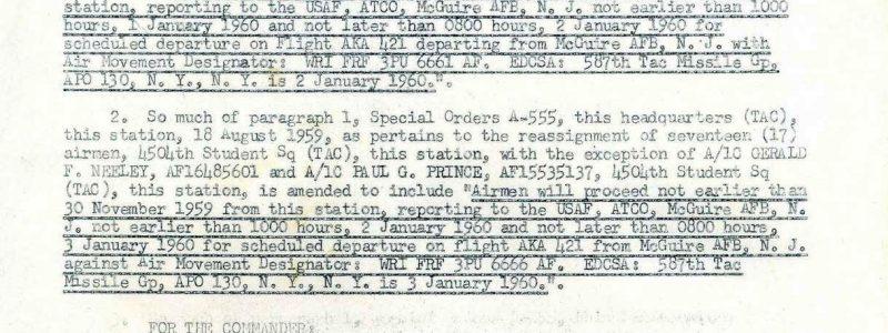 Special Order A-699 (4504th MTW / Orlando)