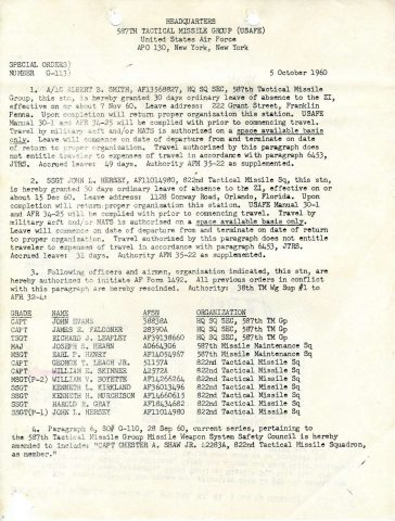 Special Order G-113 (Courtesy of Gene Bielinski)