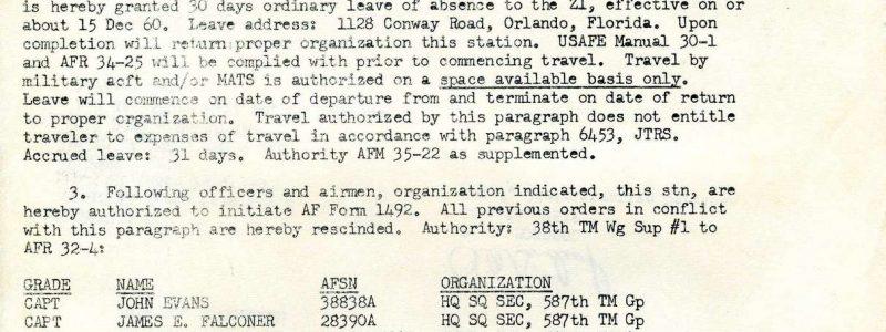 Special Order G-113 (587th TMG / HQ)