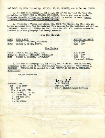 Special Order G-141 (Courtesy of Gene Bielinski)