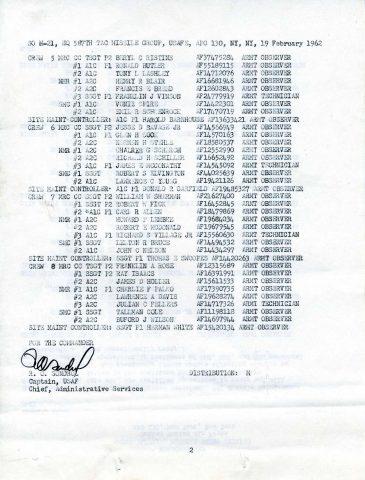 Special Order M-21 (Courtesy of Gene Bielinski)