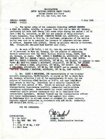 Special Order T-213 (Courtesy of Gene Bielinski)