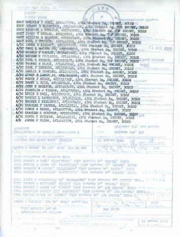 Holloman TDY Orders (Courtesy of Gene Bielinski)