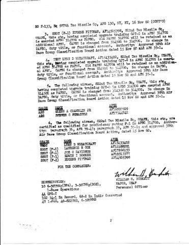 Special Order F-133 (Courtesy of Franklin Vinson)
