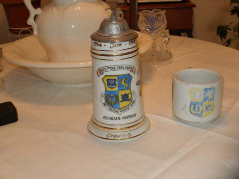 Crew stein and coffee cup (Courtesy of Jim Mulligan)
