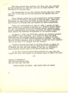 38th TMW History (Courtesy of Jim Meier)