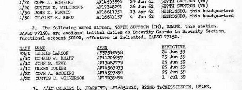 Special Order F-87 (587th TMG / HQ)