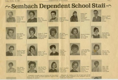 Sembach Teachers - 1966 (Courtesy of Tom Conrad - 887th TMS)