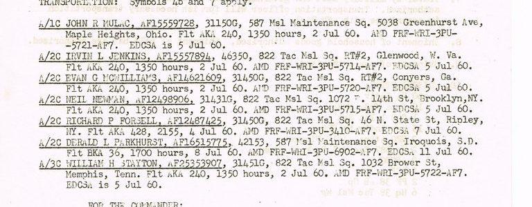 Special Order B-45 (587th TMG / HQ)