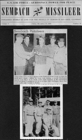 Top Article: Wiesbaden trophy presentation. Bottom photo: Sembach Pistoleers