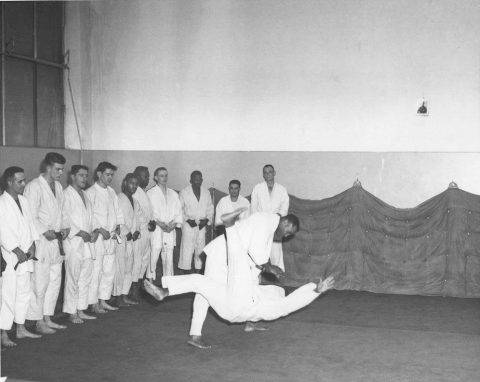 Sembach Air Base Judo practice. Unknown participants. Circa 1961