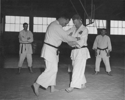 Sembach Air Base Judo demonstration. Circa 1961