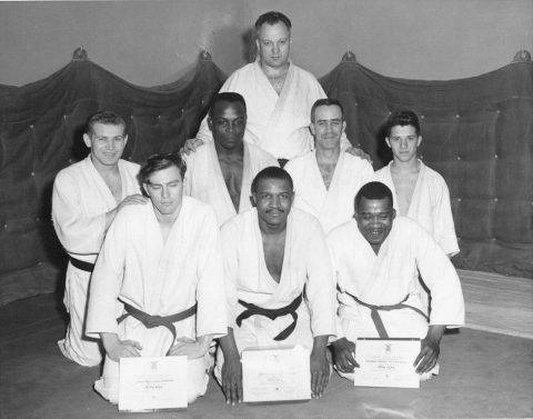 Sembach Judo Certifications. MSgt. James Cazel second row, third from left. Others unknown. Circa 1961-2